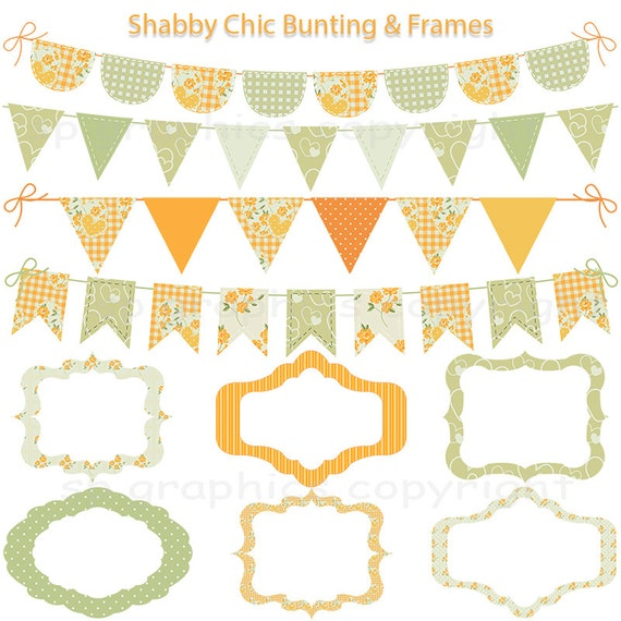 shabby chic bunting - photo #40