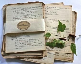 set of 10 handwritten papers