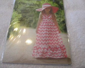 Emmaline Sewing Pattern for Girl's Dress by Violette Field Threads in sizes 2T-10
