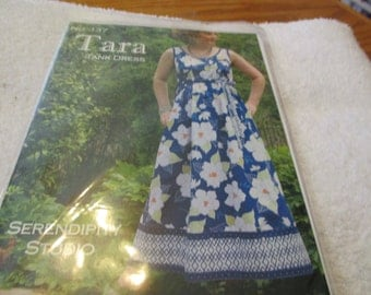 Sewing Pattern for the Tara Tank Dress from Serendipity Studio with 5 lengths and 7 variations
