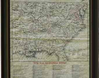 Framed Civil War Battlefields 1861-1865. Free Shipping!