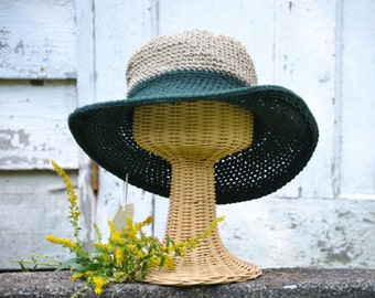 Wide brimmed hats for Women / Cowboy Hats / Fall and Winter Hats / Back to school Fall Fashion / Color block Hat / Womens Hats / Cotton hat