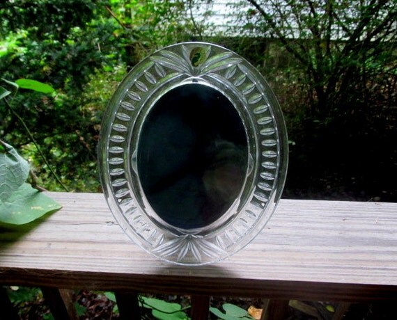 Lovely Waterford Crystal Oval 5x7 Picture Frame