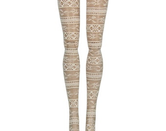 Pullip DAL Doll Stockings - Ecru Lace - Doll Clothes - 12""