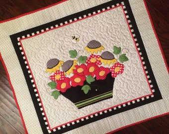 DIY Ivy Flower Quilt Kit Laser Cut Applique Small Quilt Stitches of Love