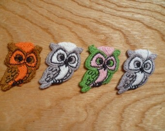 Vintage Owls Applique