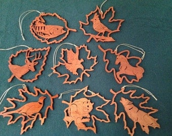 WOODLAND CREATURES ORNAMENTS