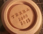 Custom Stoneware Niche Cover for your Custom or Ready to Ship Urn - Purchase if you would like to place your urn outdoors.