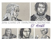2016 Game of Thrones Calendar, Digital Download