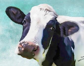 farmyard art,  holstein cow, holstein decor, friesian cow, farm animals, farm art, farmhouse decor, animal art, farm decor, country print