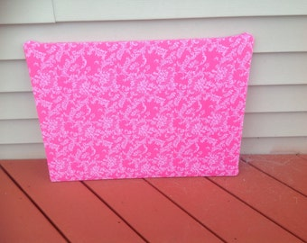 SALE!!! Pink floral upcycled pinboard message board