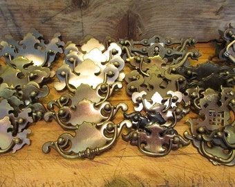 Brass Drawer Pulls Vintage Metal Drawer Pulls 36 Pieces