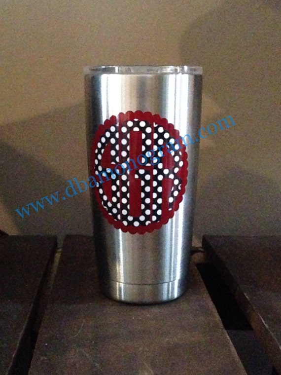 Yeti Cup Monogram Decal Sticker Cup Decal Monogram Cup