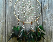 "Worm Moon Hand Woven 8"" Dream Catcher in Gold by The Emerald Lotus"