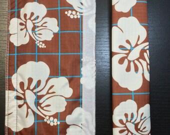 CLEARANCE! Hawaiian, Fridge Handle Coverx 2 Set(4), brown, nylon
