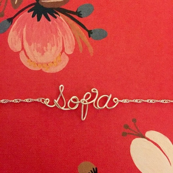 Personalized - Wire Name Writing - Necklace