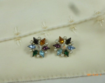 Vintage B David Clip On Star Earrings