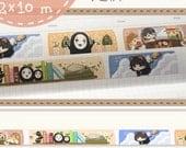 1 Roll of Limited Edition Washi Tape- Miyazaki Hayao Movie Characters