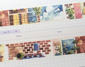 1 Roll of Limited Edition Washi Tape- Coffee Shop
