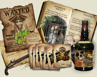 Pirate Murder Mystery party Game. . Download and print. booklets, clues, ......Ages 16+ to Adults.