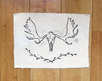 Moose skull back patch