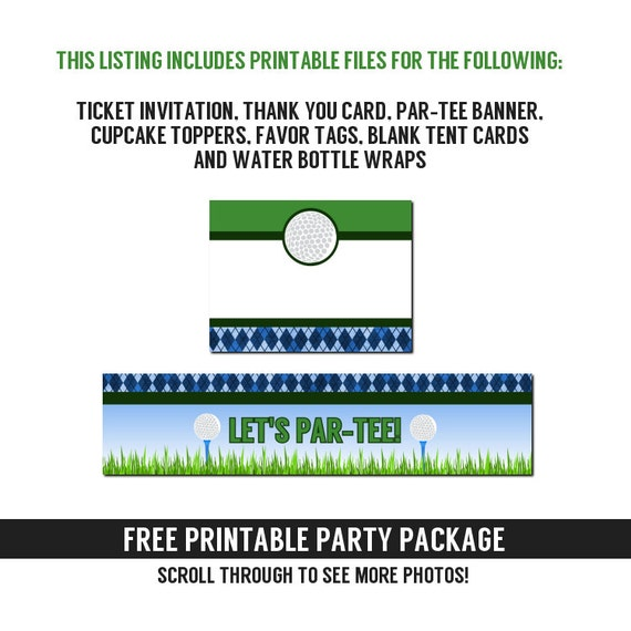 Golf Ticket Invitations Birthday Or Retirement Party By