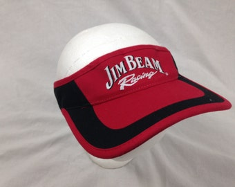 jim beam racing liquor visor hat