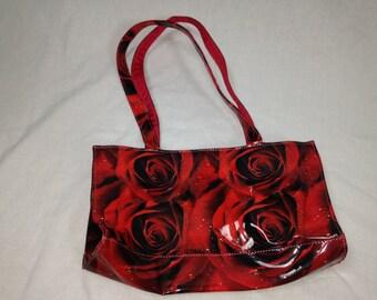 rose pattern purse