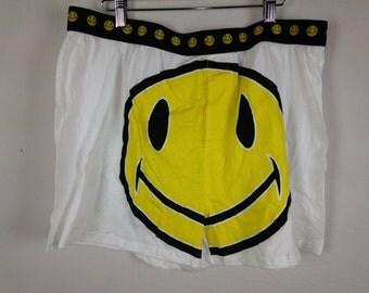 smiley face shorts size XL