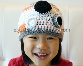 BB-8 hat, BB8 hat, Star Wars hat, Crochet Droid Hat, Crochet Baby Hat, Robot, photo prop, Inspired by BB-8 from Star Wars
