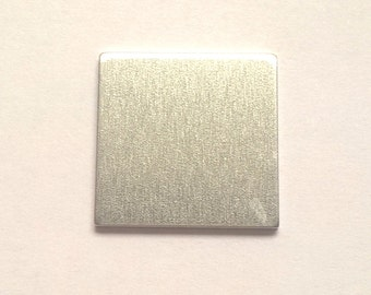 Aluminum Square Stamping Blank 1 1/4 or 1.25 inch, 14g Aluminum Stamping Blanks Stamping Supplies, Hand Stamping Jewelry Supplies Free Ship