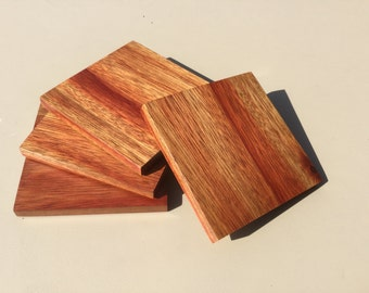 Blood Wood Coaster Set of 4. Free shipping in US