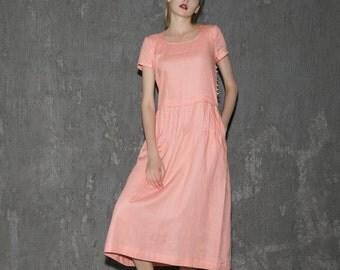 Sleeveless Long Linen Maxi Dress C650