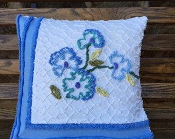 Chenille Pillow Dogwood Cabin Craft