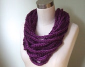 Purple Scarf Necklace .. ...