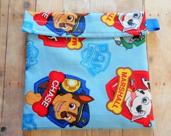 Paw Patrol Puppy Dog Marshall Chase Everest Zuma Reusable Sandwich bag