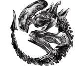 Coey: Holographic Xenomorph Sticker