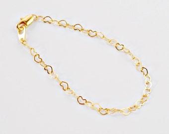 Hearts Bracelet - Gold