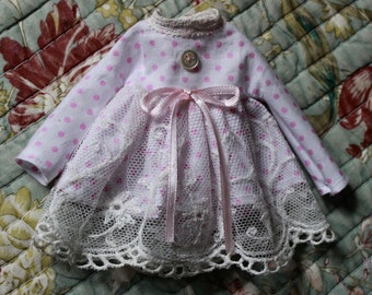 Ooak Blythe Coton / Lace dress by Iriscustom