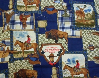 Trappers Canadian Park Fabric - Cotton Fabric - Quilting, Sewing