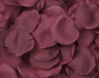 Burgundy Silk Rose Petals - 250 Petals - Wedding Centerpiece