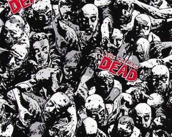 Walking Dead Zombie Fabric Yardage