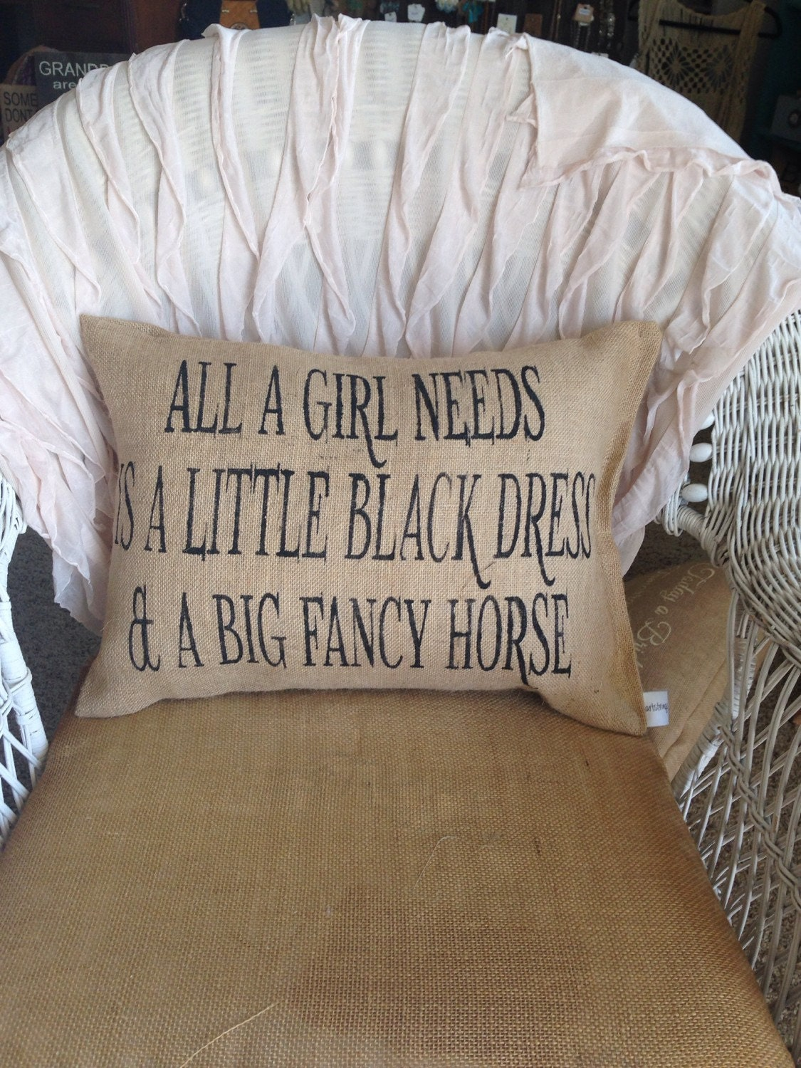 horse lover pillow horse decor burlap pillow horse pillow - Horse Decor