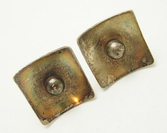 Large Sterling Cufflinks Mod Vintage Accessories Sterling by Aram H748