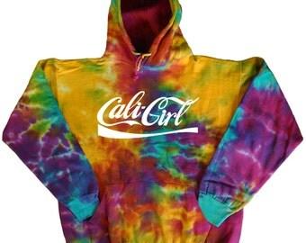 Tie Dye sweatshirt Cali Girl hoodie - Men's size