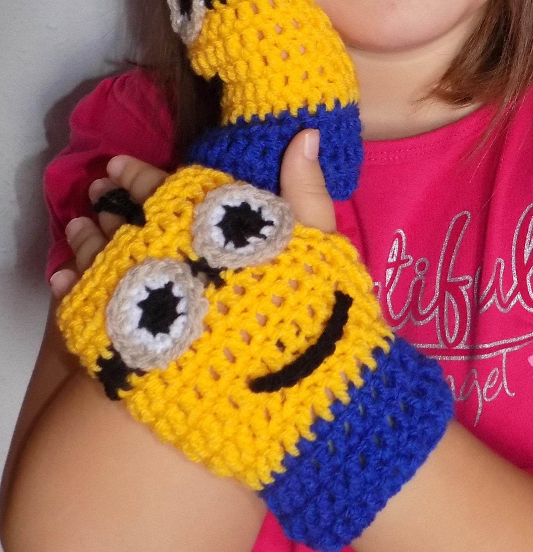 Minions mittens crochet pattern gloves crochet pattern crochet this is a digital file bankloansurffo Choice Image