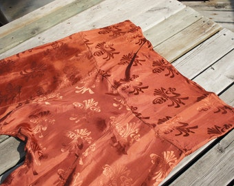 DECO JAPAN 1920's Japanese Silk Brocade Harem Pants with Dropped Crotch and Wide Leg