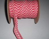 "Wholesale Bias Tape Extra Wide 1/2"" Double Fold Red Gingham 75-Yd Reel"