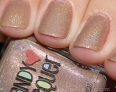 Tea & Biscuits - handmade holographic shimmer nail polish