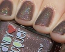Chocolate Galaxy - handmade holographic shimmer nail polish